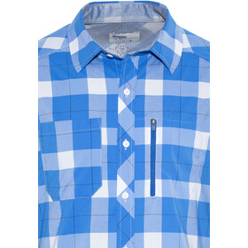 Bergans Jondal Bluzka z długim rękawem Mężczyźni, athens blue/white check
